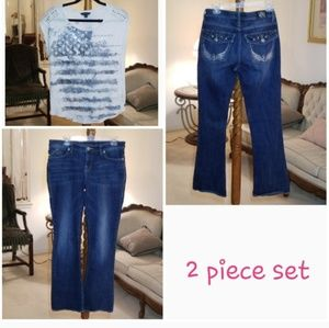 Rock&Republic Jeans and Top Set